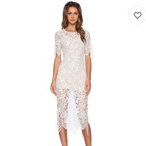 For Love and Lemons Luna Dress in White